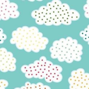 Polka Dot Clouds (April)