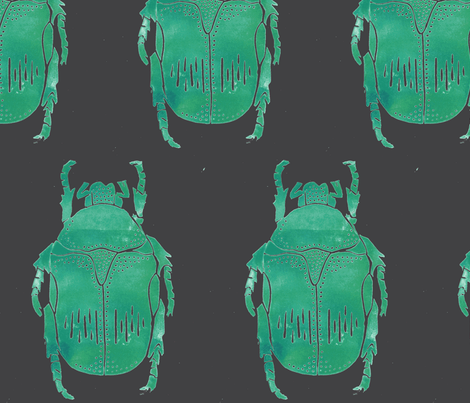 jewel beetle gray   fabric by cristante on Spoonflower - custom fabric