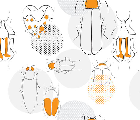 Beetles fabric by pragya_k on Spoonflower - custom fabric