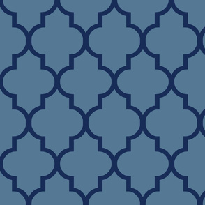 Quatrefoil in French Blue and Navy