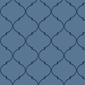 Kate Trellis in French Blue and Navy