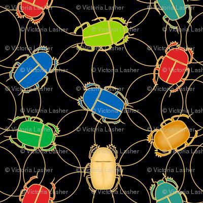 cloisonne scarab - black
