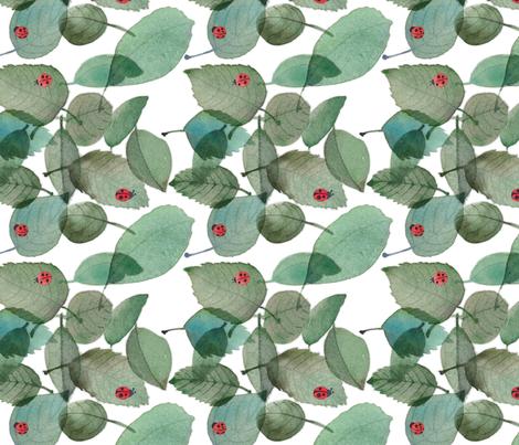 larger_ladybugwatercolor2 fabric by studio4thirtythree on Spoonflower - custom fabric