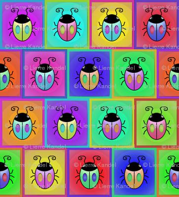 Bugs - Multicolor Offset Framed Squares