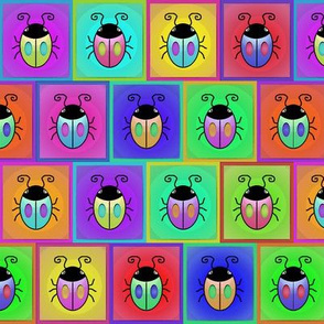 Bugs - Multicolor Offset Framed Squares