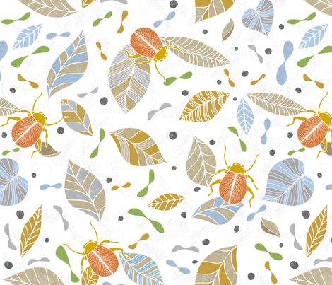 A Beetle Invasion fabric by vo_aka_virginiao on Spoonflower - custom fabric