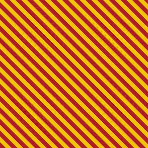 Magic School Inspired Diagonal Gryffin Lion  Stripes - Small