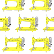Sew Geek Sewing Machines in Yellow