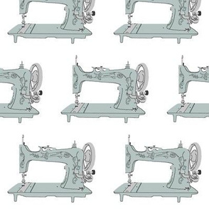 Sew Vintage Sewing Machines in Silver