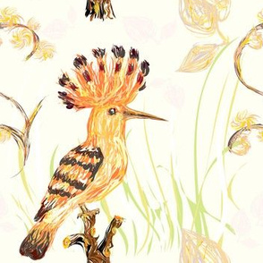 Autumn hoopoe