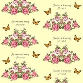 springtime - yellow scripture