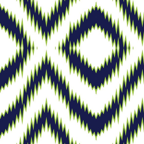 navy ikat with chartreuse