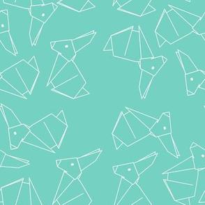 Origami Bunny Mint