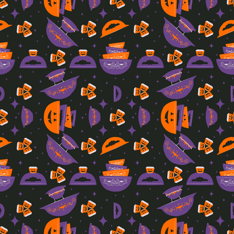 Pyrex Halloween Party fabric by halloweenhomemaker on Spoonflower - custom fabric