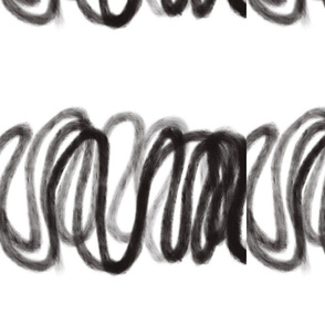 Black and white squiggles