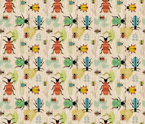 Beetle Mania fabric by sheri_mcculley on Spoonflower - custom fabric