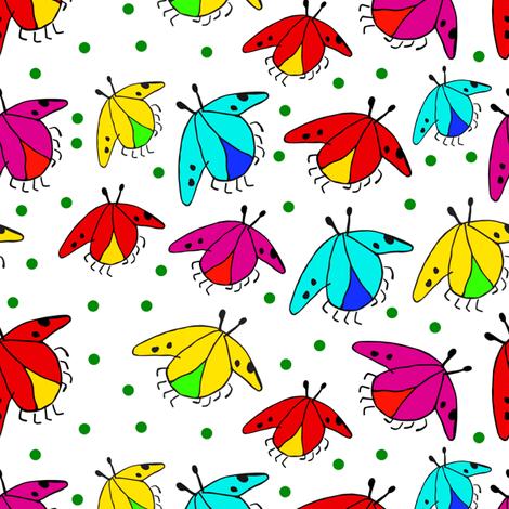 Fiaba Beetles fabric by honey_gherkin on Spoonflower - custom fabric