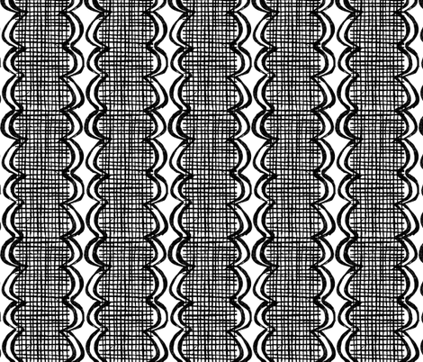 New York City (streets & rivers) black and white fabric by ottomanbrim on Spoonflower - custom fabric