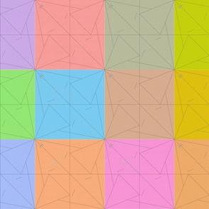 Origami Crane Color Blocks