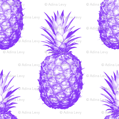 Purple Pineapples - Medium tiling pattern