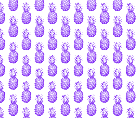 Purple Pineapples - Medium tiling pattern fabric by thecumulusfactory on Spoonflower - custom fabric