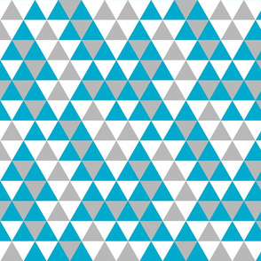 Triangles Turquoise White Grey