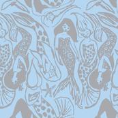 Mermaid grey blue