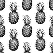 Black and White Pineapples - Medium tiling pattern