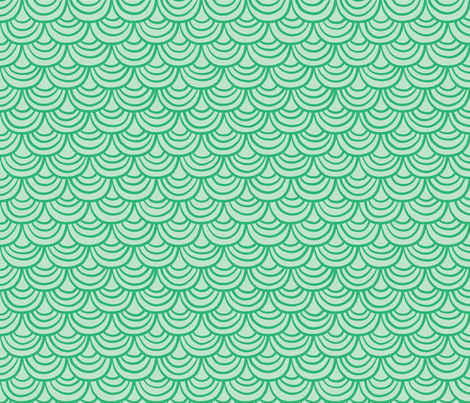 Green Scales fabric by rosalarian on Spoonflower - custom fabric