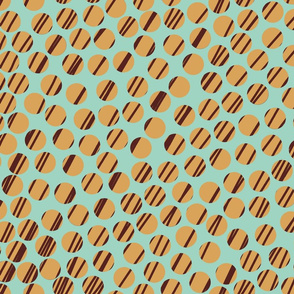 Huge_Dots_with Aqua, Gold and_Dark_Red.