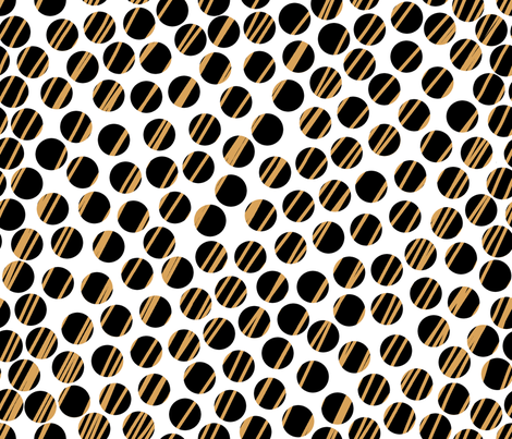 Huge_Dots_with_Gold. fabric by house_of_heasman on Spoonflower - custom fabric