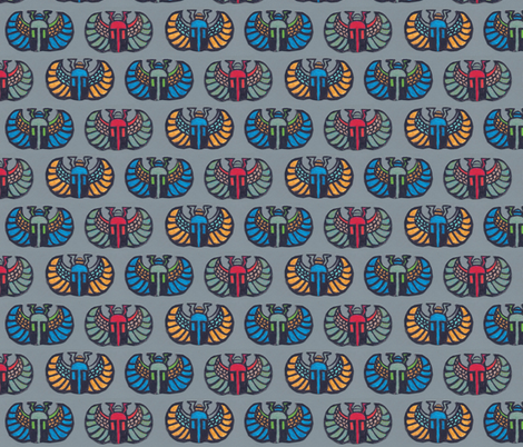 3_scarabs fabric by timaroo on Spoonflower - custom fabric