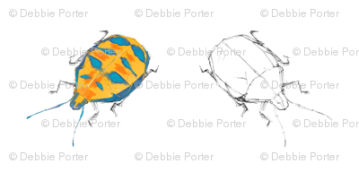 Harlequin Beetles by Debbie Porter - Designs of an Eclectique Heart