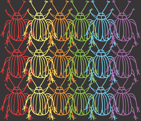 meet the beetles fabric by bishopart on Spoonflower - custom fabric