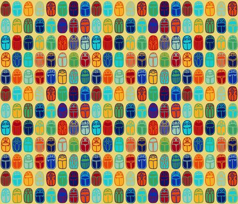 Scarabs fabric by mongiesama on Spoonflower - custom fabric