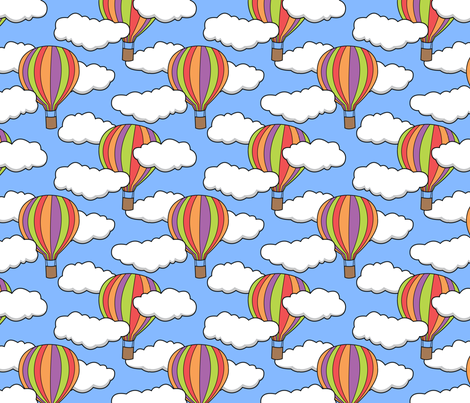 hot air balloons fabric by castl3t0n on Spoonflower - custom fabric