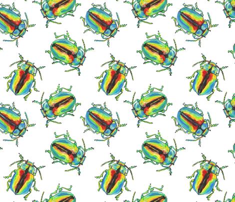One Beetle knows another! fabric by moirarae on Spoonflower - custom fabric