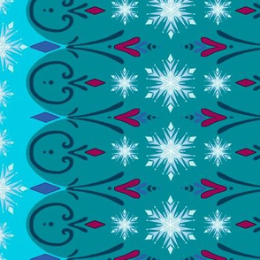 Coronation Elsa Inspired 14x5 Snowflake