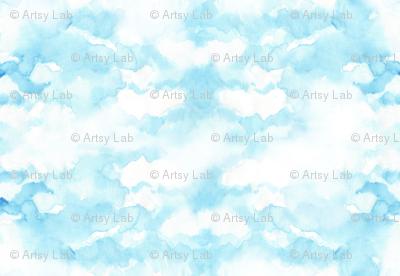 sky in watercolor