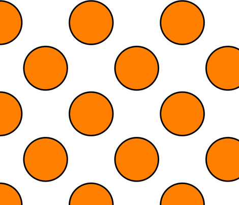 OrangeDotsLarge1 fabric by kelleecarr on Spoonflower - custom fabric