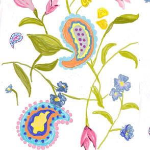 large floral paisley