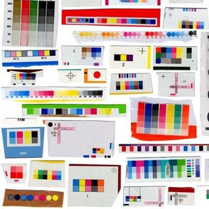 Preregistered || printing registration marks graphic design packaging color cmyk rainbow upcycling recycling geometric halftone collage