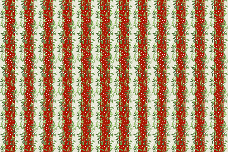 Mistletoe stripes fabric by lfntextiles on Spoonflower - custom fabric