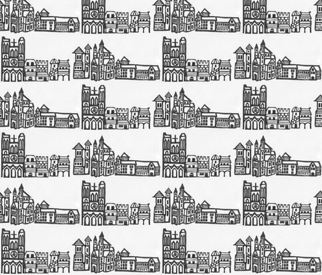 Mon Ancien Quartier fabric by timaroo on Spoonflower - custom fabric