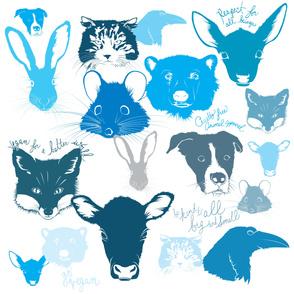 MooShoes Animal Pattern—blue on white