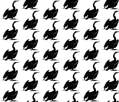 Black and White - Cormorant fabric by koalalady on Spoonflower - custom fabric