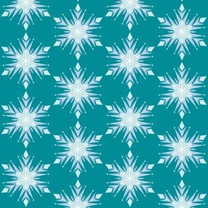 Inspired Elsa Teal Snow flakes