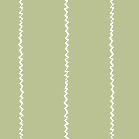 wonky zig zag - avocado and white fabric by ali*b on Spoonflower - custom fabric