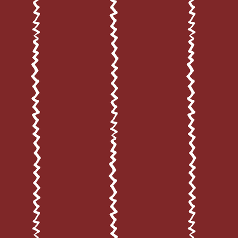 wonky zig zag - wine and white fabric by ali*b on Spoonflower - custom fabric