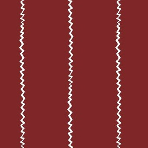 wonky zig zag - wine and white